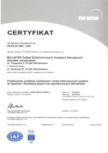 ISO certificate in polish